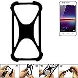 K-S-Trade Handyhülle für Huawei Y3 II Dual-SIM Schutz Hülle Silikon Bumper Cover Case Silikoncase TPU Softcase Schutzhülle Smartphone Stoßschutz, schwarz (1x)