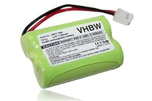 Ni-MH Batterie 400mAh (2.4V) compatible pour Audioline. Remplace SL30013.