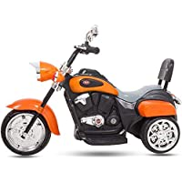 MUNMUN TOY Baby Bullet Bike for Kids Ride on Battery Operated Bike Orange Color Bike for Boys 1 to 4 Years 16-103