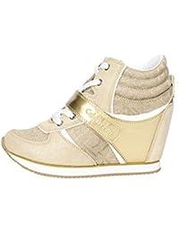 Calvin Klein Jeans RE9642 Zapatillas De Deporte Mujer Gamuza/tejido Oro Oro 36