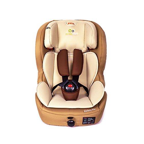 Kinderkraft Safetyfix Car Seat with Isofix 9-36 kg Group 1 2 3 (Beige)