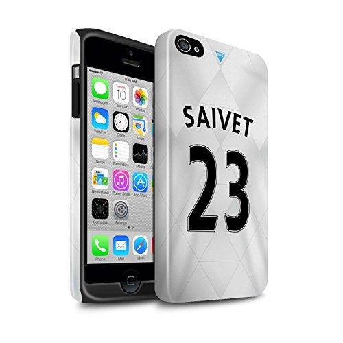 Officiel Newcastle United FC Coque / Brillant Robuste Antichoc Etui pour Apple iPhone 4/4S / Pack 29pcs Design / NUFC Maillot Extérieur 15/16 Collection Saivet