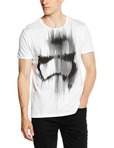 Star Wars the Force Awakens Adult Male Distressed Stormtrooper, T-Shirt Uomo Bianco