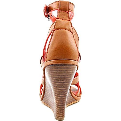 Coach Dawn Leder Keilabsätze Sandale Saddle