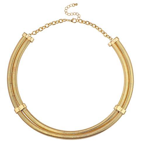 LUX Zubehör Metall Mesh Statement Halskette (Metall-mesh-bogen)