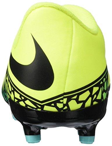 Nike Junior Hypervenom Phelon Ii Fester Boden Fußballschuhe, Scarpe da Calcio Bambino Giallo (Volt/Hyper-Türkis/Klares Jade/Schwarz)