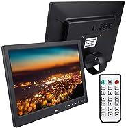 شاشة رقمية الكترونية كبيرة محمولة متعددة الوظائف لعرض الصور بدقة HD مقاس 12 انش مزودة بجهاز تحكم عن بعد