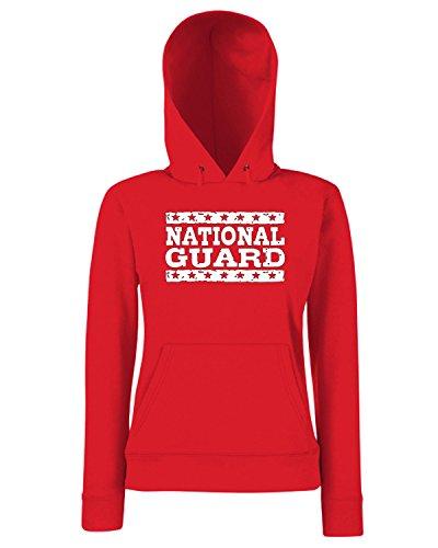 T-Shirtshock - Sweats a capuche Femme OLDENG00769 national guard Rouge