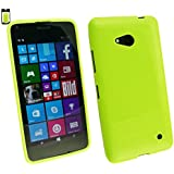 Emartbuy® Microsoft Lumia 640 3G 4G LTE / Lumia 640 3G 4G LTE Dual Sim Glänzend Gloss Gel Skin Tasche Hülle Grün