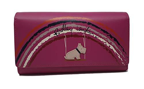 Radley Matinee Geldbörse mit Klappe Swinging on a Rainbow, Leder, Pink - Matinee-geldbörse