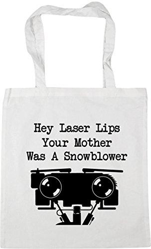 63241d16e HippoWarehouse Hey Laser Lips Your Mother Was A Snowblower Bolso de Playa  Bolsa Compra Con Asas