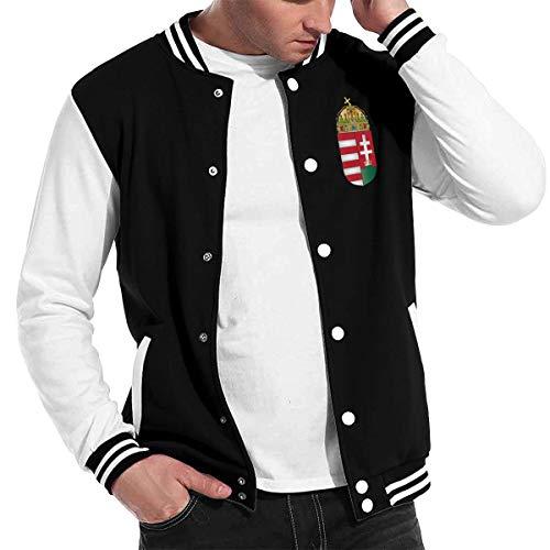 Love Lambert Mode Unisex Baseballuniform Jacke Sport Mantel Wappen von Ungarn Herren Damen Erwachsenen Sweatshirt Outwear (Olive Pea Green Coat)