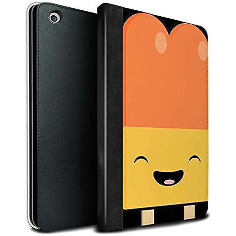 STUFF4 PU Pelle Custodia/Cover/Caso Libro per Apple iPad Mini 1/2/3 tablet / Ghiacciolo / Cibo Kawaii disegno