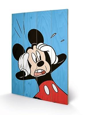 Pyramid - Panneau En Bois Mickey (Shocked) Disney