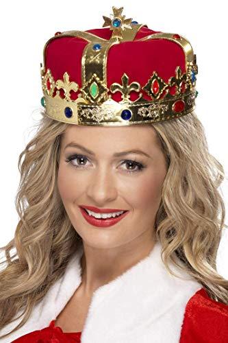 Kostüm Von Königin England - Königinnen-Krone mit Juwelen, One Size