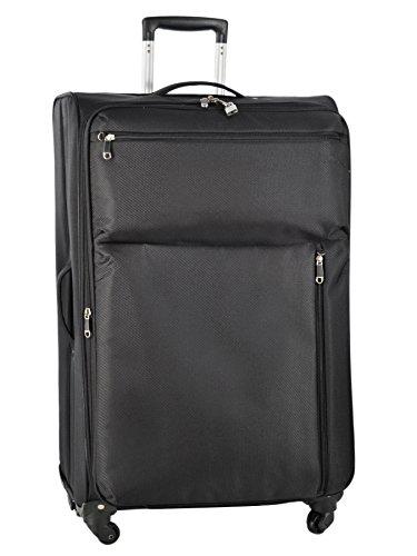 Valise Souple Extensible Travel'air Noir Polyester