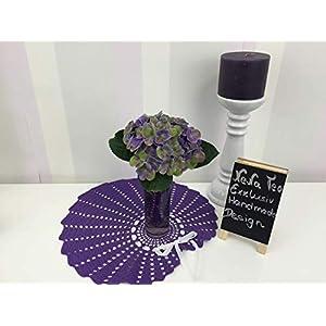 Velvet Romantic Dekoration Collection 100 (Purple) Häkeln,Skandinavisch, Shabby Chic, Landhaus, Romantische, Design Klassiker Möbel für eine Moderne Elegante Wohnung