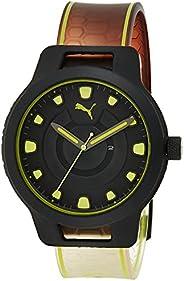 Puma Reset V1 Men's Black Dial PU Leather Analog Watch - P
