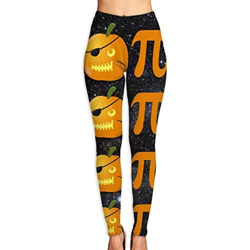 VAICR NCRSPIC Strumpfhosen Hosen,Personalized Crazy PiratePumpkin Pie Women's Printed Leggings Pants For Sports Yoga Workout Gym Running