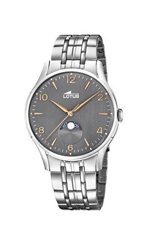 Lotus Watches Reloj Fase Lunar para Hombre de Cuarzo con Correa en Acero Inoxidable 18425/2