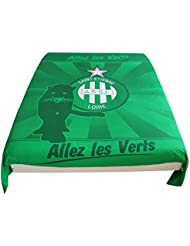 Housse de couette ASSE - Collection officielle AS SAINT ETIENNE - Taille 140 x 200cm - Lit 1 place