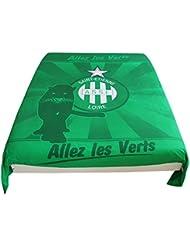 Housse de couette ASSE - Collection officielle AS SAINT ETIENNE - Taille 140 x 200cm - Lit 1 place