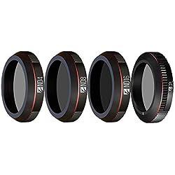 Freewell Jour Standard - Série 4K - Filtres pour objectifs de caméra 4Pack ND4, ND8, ND16, CPL Conçus pour Le DJI Mavic 2 Zoom/Mavic 2 Enterprise Drone