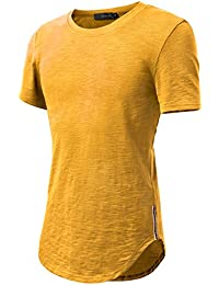 HEMOON-Camiseta Top para Hombre Cuello Redondo Mangas Cortas