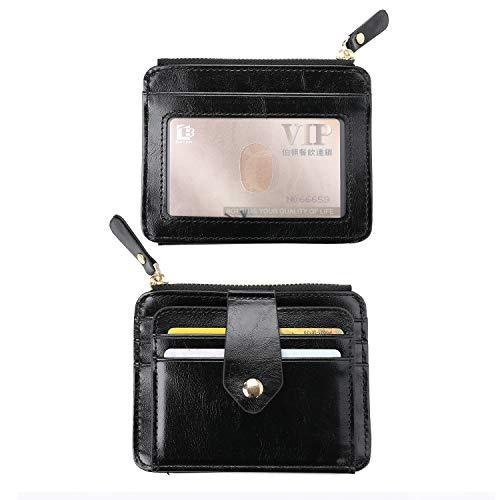 6bd89a1daa962 Crazy-m Leder Kreditkartenetui Geldbeutel mit RFID Schutz Männer  Geldklammer RFID Brieftasche Kartenetui Portmonee Herren Geldscheinklammer  Herren Geldbörse ...