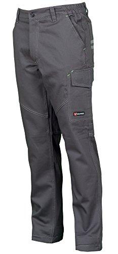 Payper deva store pantaloni da lavoro multistagione cotone 100% comodi e resistenti (smoke, 48/50)