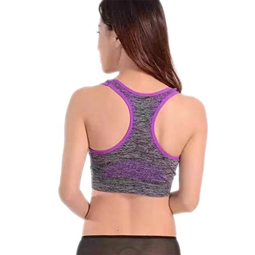 Ailin home- Sports Vest Fitness Yoga Seamless Fast-drying Sports Bra Sous-vêtements Violet