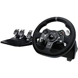 Logitech G920 Volant + Pédales pour Xbox One/PC Noir (941-000123)