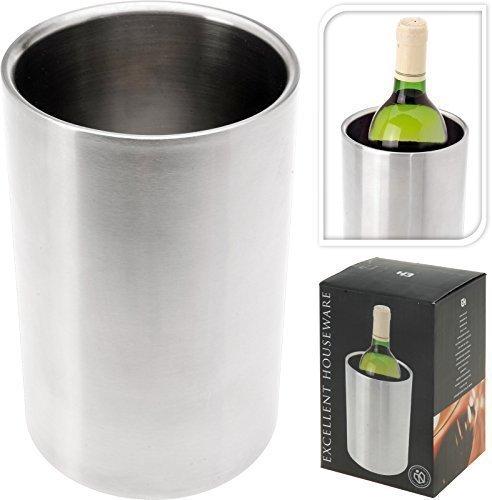 Weinkühler 'SANDY' Flaschenkühler Sekt-Kühler Sektkübel Champagnerkühler Edelstahl