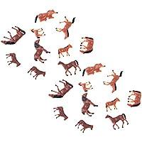 Baoblaze Modelo Caballo Animal Escala 1/87 HO Figura Juguete para Layout Granja Zoo