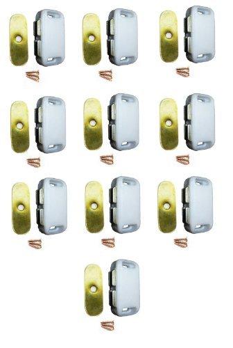 Hohe Qualität 10x Magnet Schrank Tür Cabinet Catch Magnet Halter Latch Weiß Kunststoff 40mm