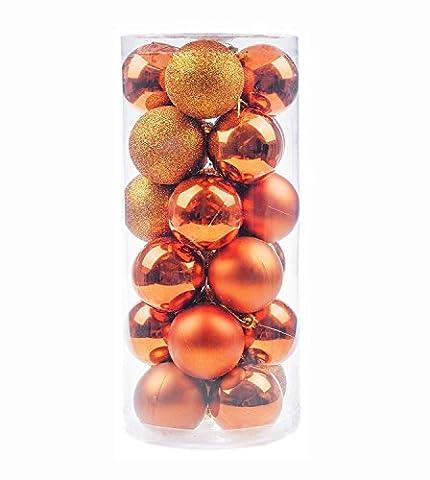 ILOVEDIY 24/48Pcs Boules de Noël en Plastique pour la Décoration