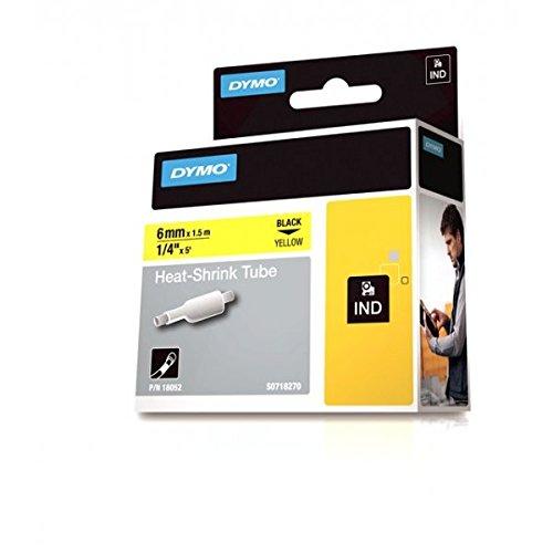 Dymo Rhino Heißschrumpfschlauch IND 6mm x 1,5m Ø: 1,18-2,33mm schwarz auf gelb