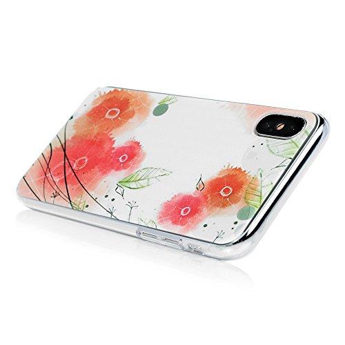 Lanveni Handyhülle für iPhone X Hülle Etui Protective Case Cover PC Hardcase Plastik Schutzhülle Handytasche mit Bunte Muster Cover Design (1x PC Hülle +1 x Kondensatorstift + 1 x HD Schutzfolie) Farbe 6