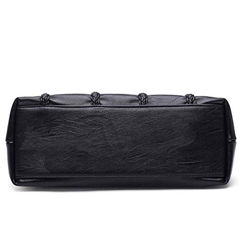 Mefly Le donne veramente in pelle lavata tre coperchi pacchetto padre Claret black