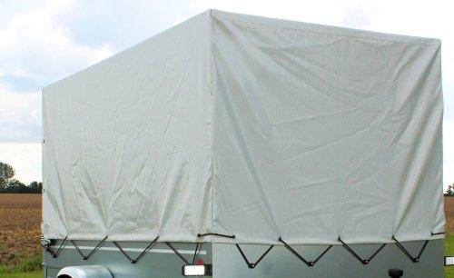 Preisvergleich Produktbild Stema Spriegel Plane Set 750 Hochplane für PKW Anhänger 0,80 cm grau