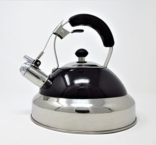 CookSpace - Hervidor para inducción (acero inoxidable, 3,5 L), color negro