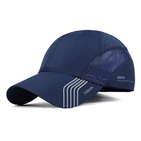 CATOP Male Baseball Cap Quick Dry Mesh Back Portable Sun Hats For Sports Golf Running Fishing Outdoor