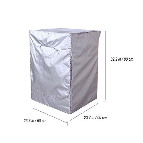 WINOMO Cubierta de lavadora impermeable para lavadora / secadora de carga frontal