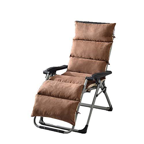 DADAO Outdoor Furniture Lounge Chair Kissen, Dicke-Recliner Kissen, Bamboo Chair/Rocking Chair/Easy Chair Cushion Universal Sofa Kissen Removable und Waschhable,Brown,61x20inch (Outdoor-schaukelstuhl Klappstuhl)