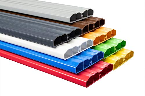 Muster Zaunlatte PZL-16 | widerstandsfähiges Hart-PVC | Kunststoffzaun | Balkonbretter | pflegeleicht | grün bunt | 80 x 16 mm | Hexim