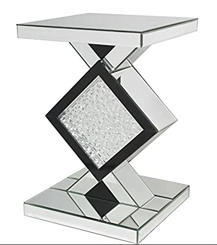 Hall Mirrored Table Side Hallway Furniture End Mirror Bedside Living Room Unit