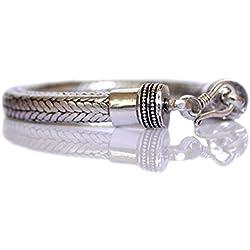Plata tibetana Pulsera de cadena de serpiente para hombre