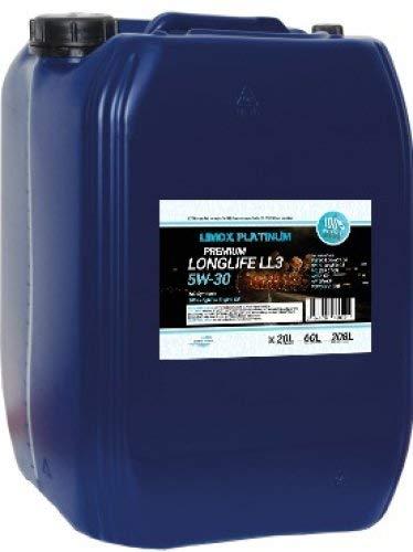Limox Platinum Longlife LL3 5W-30 Motoröl 20-Liter, ACEA C3, 504 00/507 00, MB 229.51, Longlife-04,...
