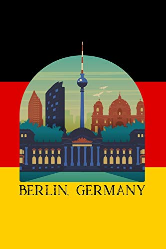 Berlin, Germany: 6x9 inch travel size 110 blank lined pages. Berlin Beer Stein