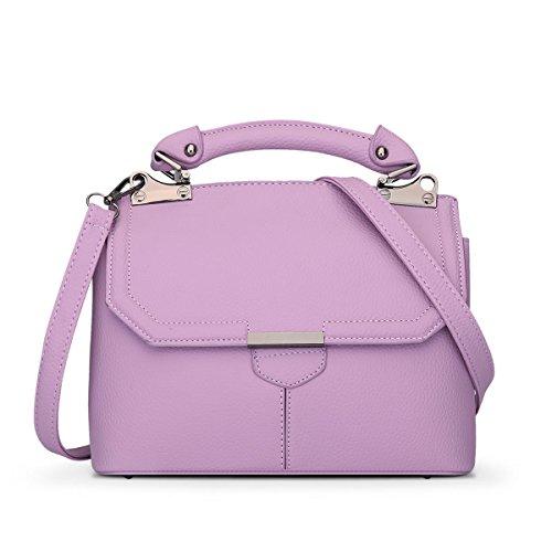 E-Girl S792 Damen 2018 Mode PU Schultertaschen,Umhängetaschen,Henkeltaschen,25.5x20x12(BxHxT) Violett
